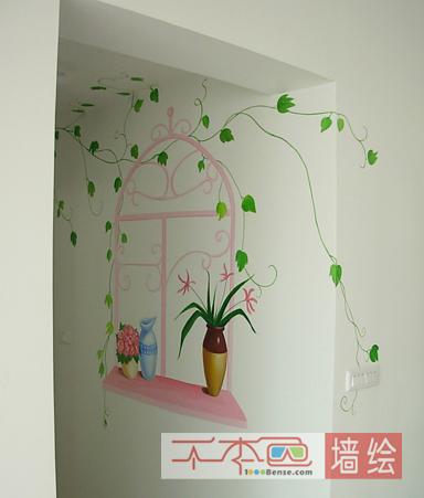 长沙餐厅彩绘_餐厅彩绘背景墙_阳台餐厅彩绘-千本色_.