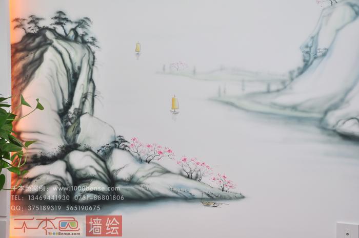 恒盛世家山水画-千本色墙绘彩绘公司_一站式彩绘专业