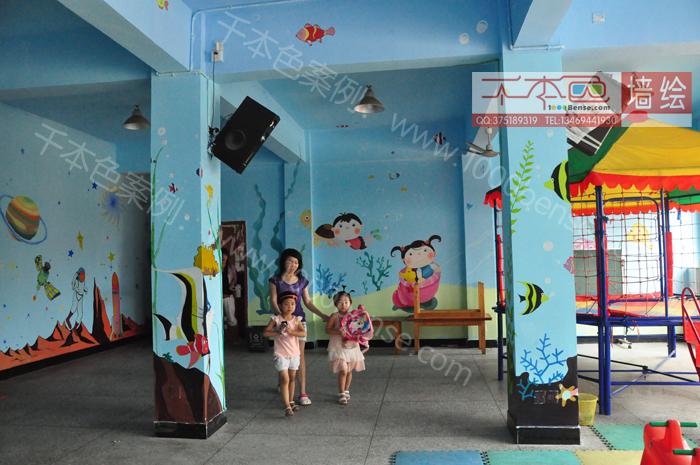 【千本色墙绘】德馨幼儿园彩绘案例