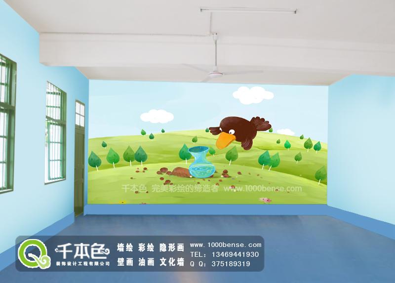 环保宣传墙体异形展板