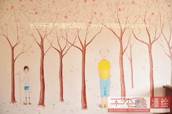 儿童卧室墙体彩绘
