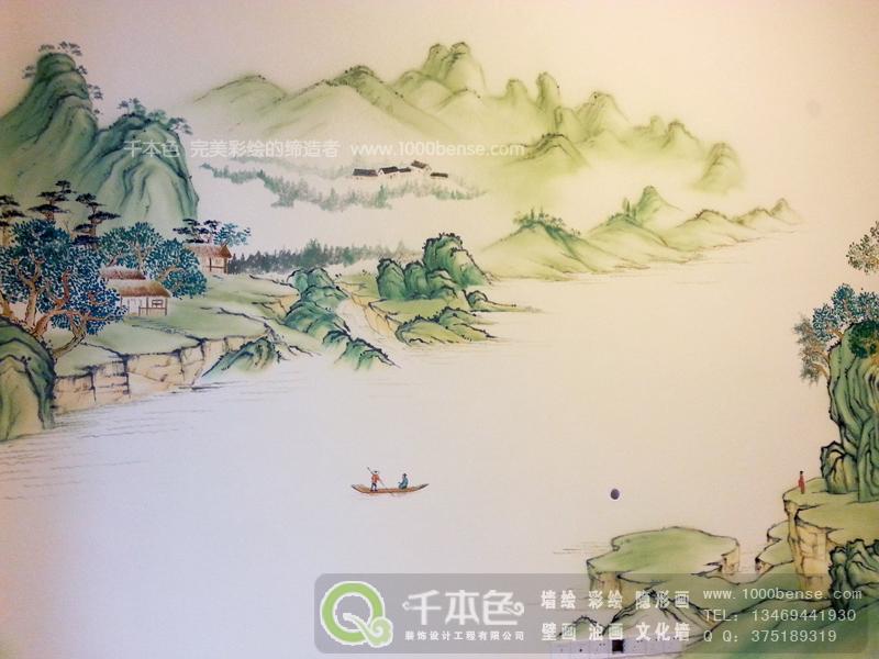 中式墙绘素材高清大图
